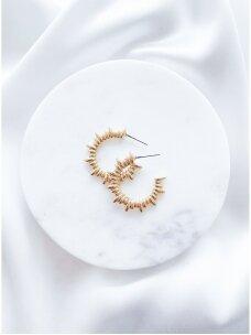 Išskirtinės formos hoops auskarai.