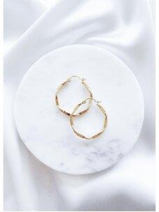 Laužyto metalo tekstūros auskariukai